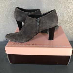 Bandolino Grey Suede Booties